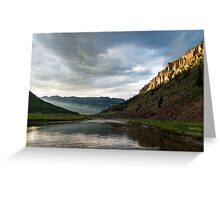Dusk - Rio Grande Headwaters Greeting Card