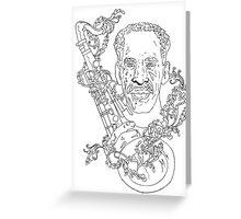 Sax Man Greeting Card