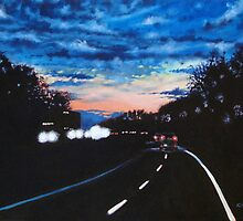 'Night Drive (485N outside Charlotte, NC)' by Jerry Kirk