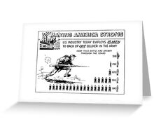 Making America Strong Cartoon -- WW2 Greeting Card