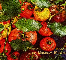 Harvest of Blessings Card by RC deWinter