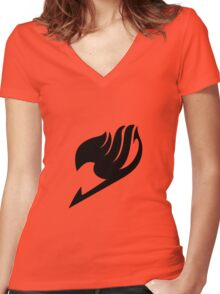 Fairy Tail Logo Women's Fitted V-Neck T-Shirt