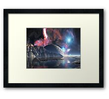 Moon-rise over Alien Lake Framed Print