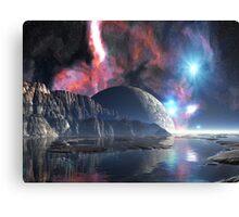 Moon-rise over Alien Lake Canvas Print