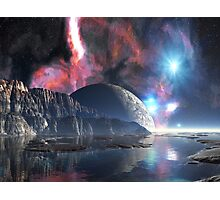 Moon-rise over Alien Lake Photographic Print