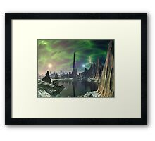 Euphoria Tower on Planet Electra Framed Print