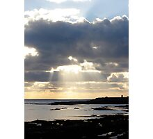 Sun through the Clouds, Isle of Man Photographic Print