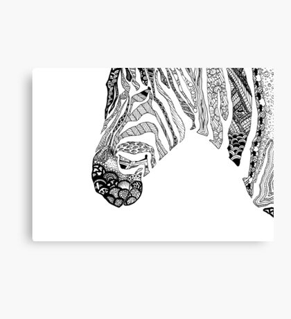 Pen and Ink Zebra Canvas Print