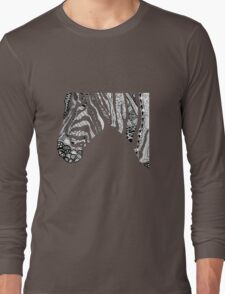 Pen and Ink Zebra Long Sleeve T-Shirt