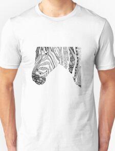 Pen and Ink Zebra Unisex T-Shirt