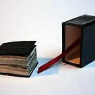 Lettres aux Cubes : W - miniature book n°1 - open by Pascale Baud