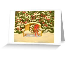 A HOLIDAY BENCH Greeting Card