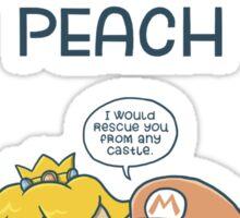 I love you as much as Mario loves Peach Sticker