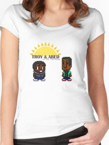 Troy and Abed in the mooooorning! Women's Fitted Scoop T-Shirt