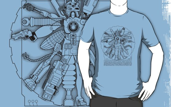 Vitruvian Machine (Black) by Captain RibMan