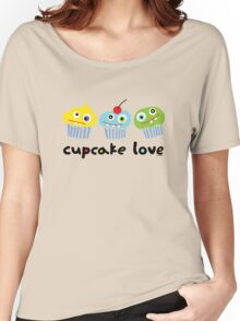 Cupcake Love - beige Women's Relaxed Fit T-Shirt