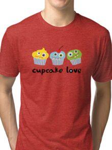 Cupcake Love - beige Tri-blend T-Shirt