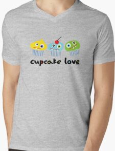Cupcake Love - beige Mens V-Neck T-Shirt
