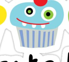 Cupcake Love - beige Sticker