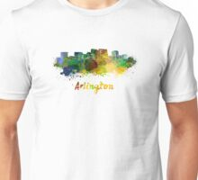 Arlington skyline in watercolor Unisex T-Shirt