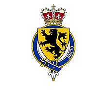 Coat of arms (family crest) for last-name or surname Cline or Clynde (Scotland) . Heraldry banner for your name. Photographic Print