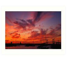 Newport , Rhode island Sunset Art Print