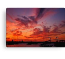 Newport , Rhode island Sunset Canvas Print