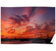 Newport , Rhode island Sunset Poster