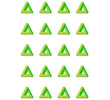 Penrose Triangle Repeated (Green) Photographic Print