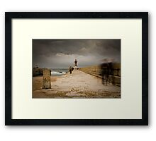 Ghosts by the pier Framed Print