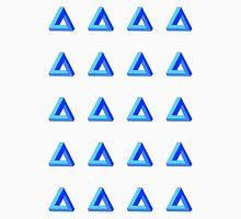 Penrose Triangle Repeated (Blue) Unisex T-Shirt