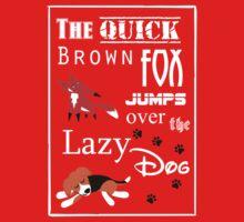 Quick Brown Fox One Piece - Short Sleeve
