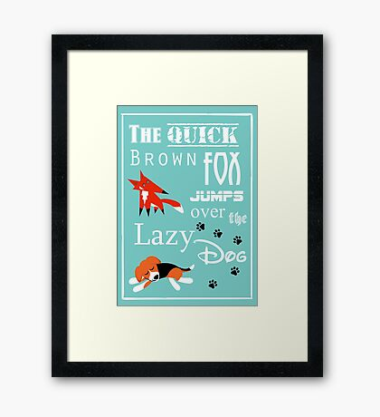 Quick Brown Fox Framed Print