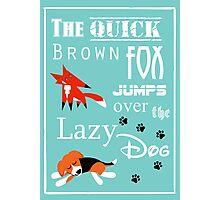 Quick Brown Fox Photographic Print