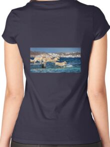 Winny jumping into the sea Women's Fitted Scoop T-Shirt