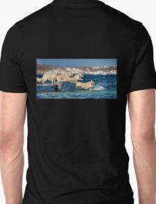 Winny jumping into the sea Unisex T-Shirt
