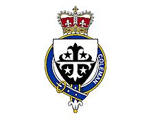 Coat of arms (family crest) for last-name or surname Coleman (Ireland) . Heraldry banner for your name. Photographic Print