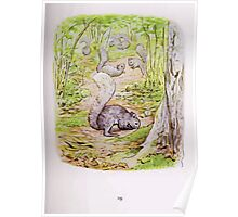 The Tale of Timmy Tiptoes Beatrix Potter 1911 0023 Forgetful Squirrels Digging for Nuts Poster
