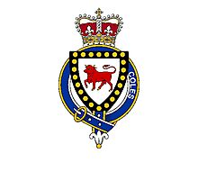 Coat of arms (family crest) for last-name or surname Coles (Ireland) . Heraldry banner for your name. Photographic Print