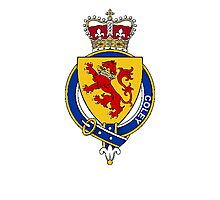Coat of arms (family crest) for last-name or surname Coley or Colley (England and Ireland) . Heraldry banner for your name. Photographic Print
