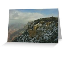 El Tovar Grand Canyon Winter Greeting Card