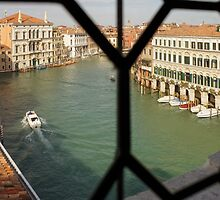 Grand Canal View From My Venetian Palace Window by Georgia Mizuleva