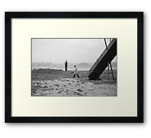 Sundays by the raging sea I Framed Print