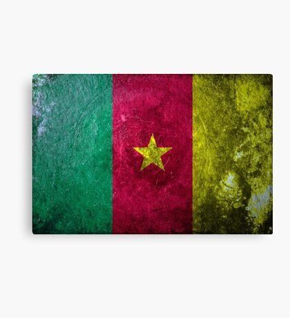 Cameroon Grunge Canvas Print