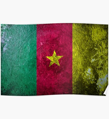 Cameroon Grunge Poster