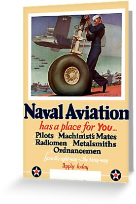 Naval Aviation Has A Place For You -- WWII by warishellstore