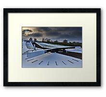 Top Lock Cottage - Foxton Locks. UK Framed Print