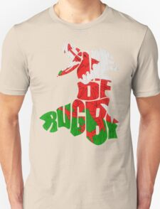 Wales Home of Rugby Calligram Map T-Shirt