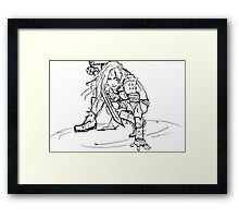 Dragonborn comes- sketch version Framed Print