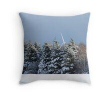Snow Blades Throw Pillow